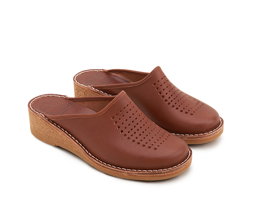 Slippers - Gunilla 902 Swedish Brown Leather Vegetable-tanned leather | Docksta Sko