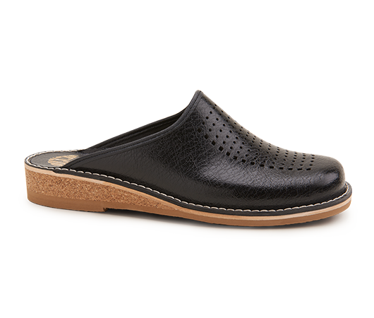 Slippers - Patrik Brown Svart | Docksta Sko