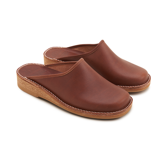 Slippers - Patrik 962 Brown Vegetable-tanned leather | Docksta Sko
