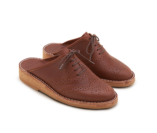 Slippers - Brogues Mats Theselius Brown Vegetable Tanned Brogues | Docksta Sko