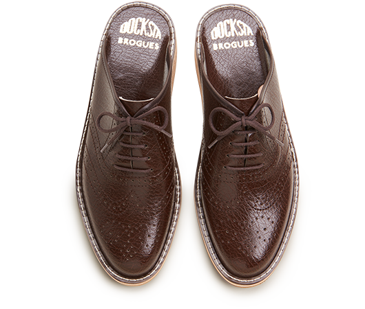 Slippers - Brogues 970 Brown | Docksta Sko