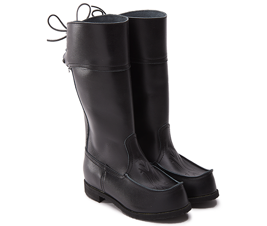 Beat Boots - Beak Boots High Black Beak Boots - Without Lining Vegetable-tanned leather. | Docksta Sko