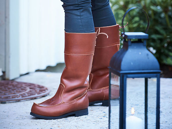 Beat Boots - Beak Boots High Brown Beak Boots - Without lining Vegetable-tanned leather | Docksta Sko