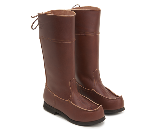 Beat Boots - Beak Boots High Brown - Without lining Vegetable-tanned leather | Docksta Sko