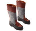 Beak Boots High Felt / Brown - Utan foder